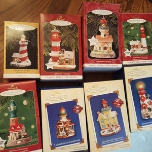 Hallmark Lighthouse Greeting ornaments.